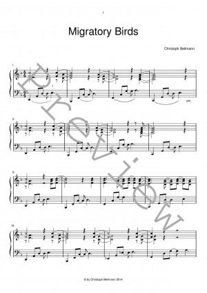 Migratory Birds - Jazz Piano Sheet Music