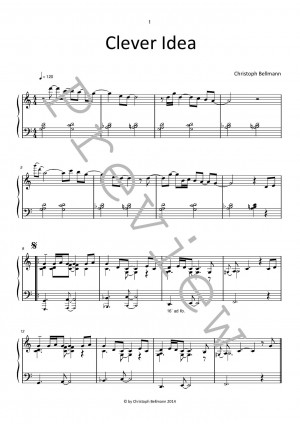 Clever Idea - jazzy piano sheet music