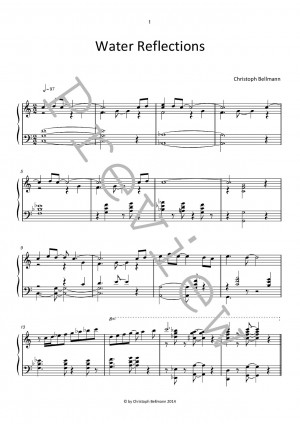 Water Reflections - neue Klaviernoten Jazz Pop - new piano sheet music