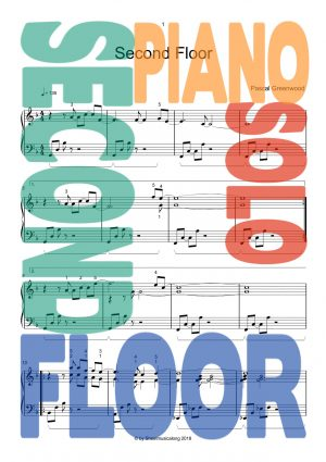 Second Floor, new easy piano sheetmusic, piano solo pop jazz, Pascal Greenwood